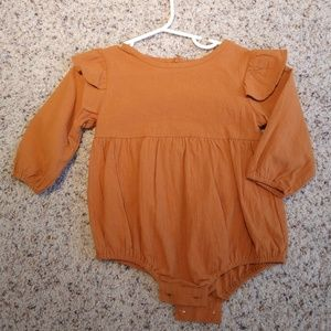 Other - Mustard Yellow/Gold/Burnt Orange Romper